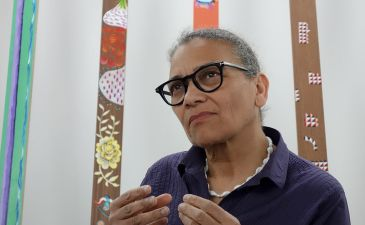 Lubaina Himid, Drowned Orchard - Secret Boatyard, 2014 - Gifts to Kings - MRAC 2018