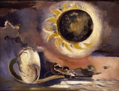 Paul Nash. Éclipse du tournesol, 1945. Huile sur toile, 71,1 x 91,4 cm. British Council Collection.