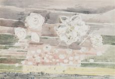 Paul Nash. Dawn Flowers, 1944 Crayon de papier et aquarelle, 39 x 56 cm Collection privée