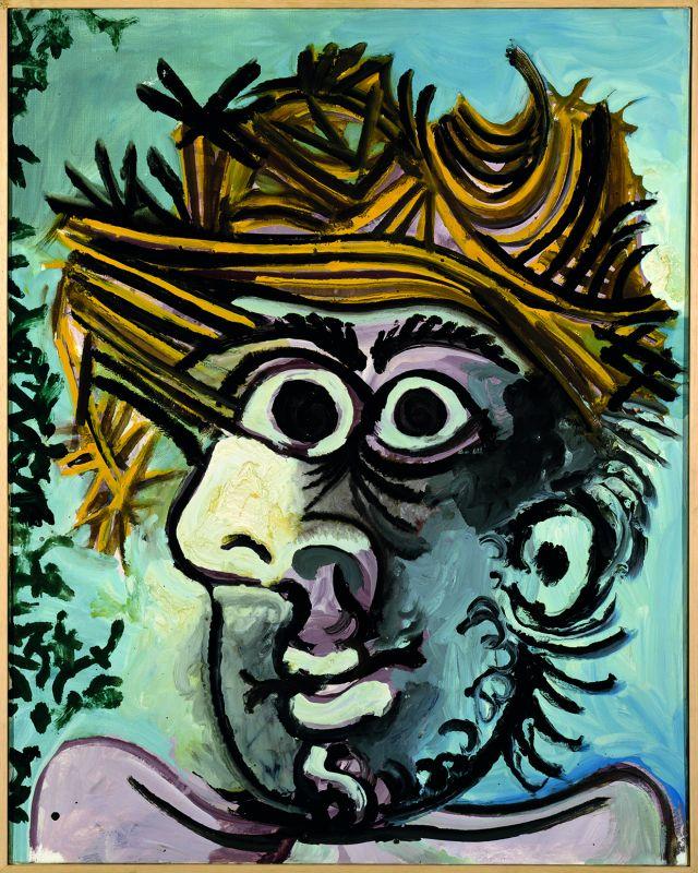 Pablo Picasso, Tête d'homme au chapeau de paille,1971 © Succession Picasso 2018