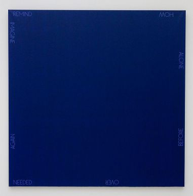 Robert Barry, Untitled, 1990 - Djamel Tatah à la Collection Lambert - Vue de l'exposition, salle 5