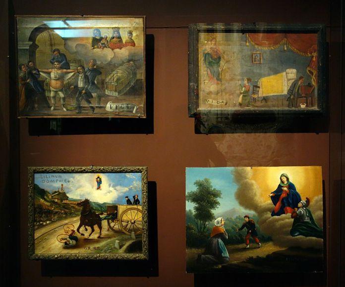Affiches et ex-voto - Vue de l'exposition Picasso et les Ballets russes, entre Italie et Espagne au Mucem