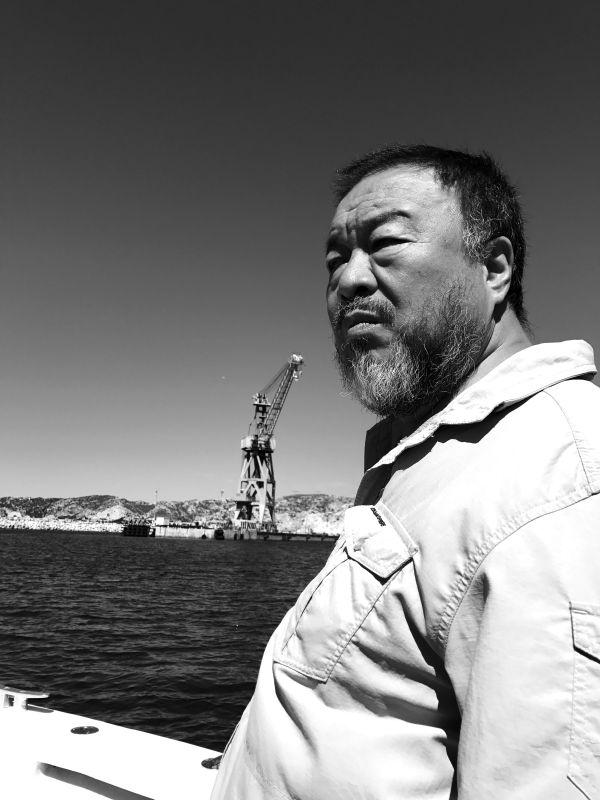Ai Weiwei à Marseille 2017 © Judith Benhamou-Huet