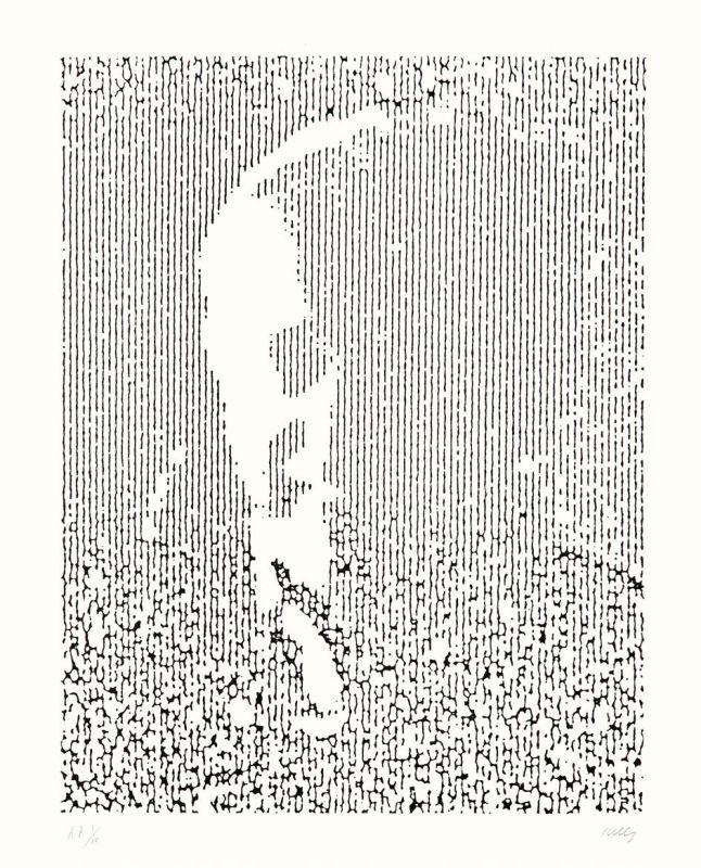 Ellsworth Kelly, EK (AX 246), 1988, lithographie sur papier Arches 88, EA 4/10 (éd. 50), 119,4 x 96,5 cm Institut National d'Histoire de l'Art, Paris © Ellsworth Kelly Foundation