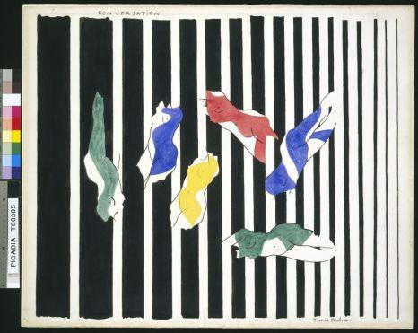 Francis Picabia, Conversation I, 1922 Aquarelle et crayon sur papier, 59,5 x 72,4 cm Tate Modern, Londres © ADAGP, Paris 2018