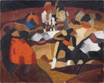 Francis Picabia, Tauromachie, 1912 Huile sur toile, 72 x 90 cm Collection Valérie Roncari, Courtesy Galerie 1900-2000, Paris © ADAGP, Paris 2018