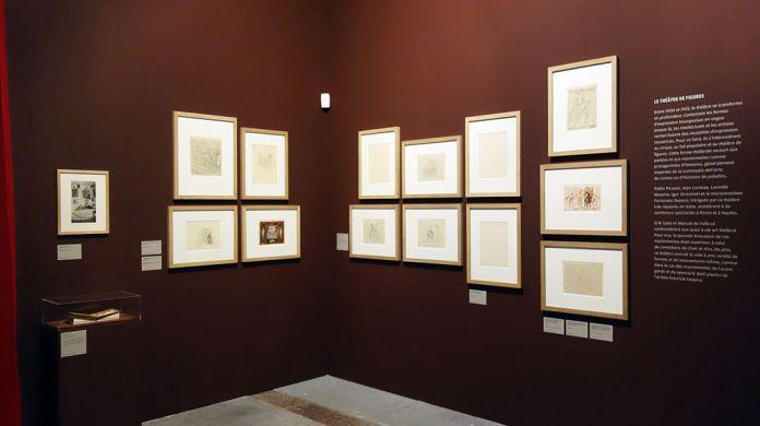 Le théâtre de figures - Vue de l'exposition Picasso et les Ballets russes, entre Italie et Espagne au Mucem