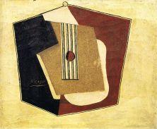Pablo Picasso, Guitare, 1918 Huile et sable sur toile, 54 x 65 cm Nahmad collection, Monaco © Succession Picasso, 2018