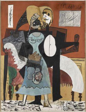 Pablo Picasso, Les Amoureux, 1919 Huile sur toile, 185 x 140 cm Musée national Picasso-Paris © Succession Picasso, 2018