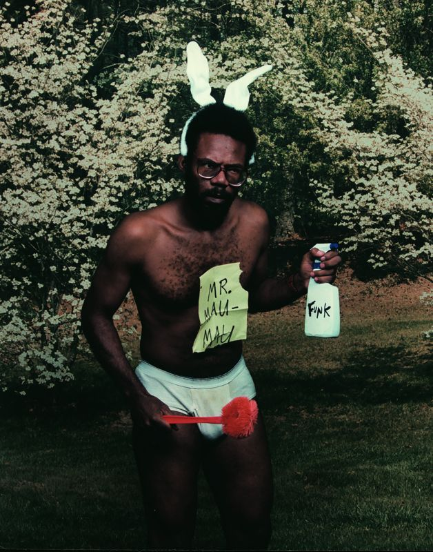 Pope.L, Foraging (Mr. Mau Mau), from the Black Domestic Project, 1995-2001