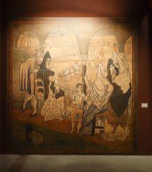 Reproduction du rideau de scène pour le ballet Tricorne, 1919 - Picasso et les Ballets russes, entre Italie et Espagne au Mucem