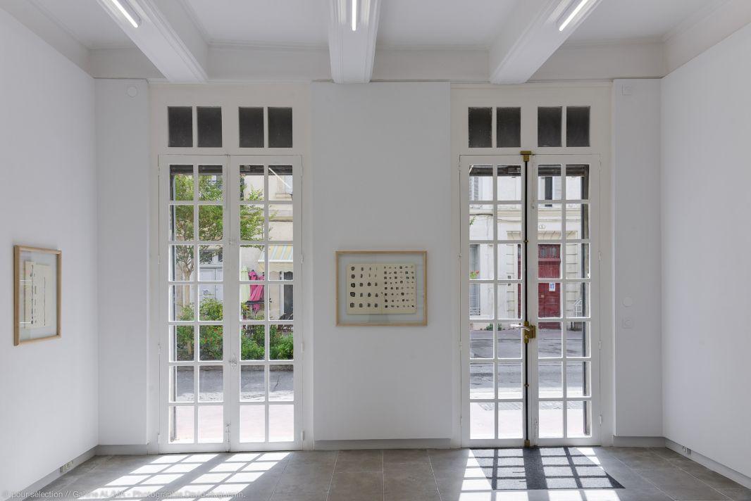 Toni Grand, Dessins 1970-71 - Vue de l'exposition à la galerie ALMA – Montpellier - Photo © David Huguenin