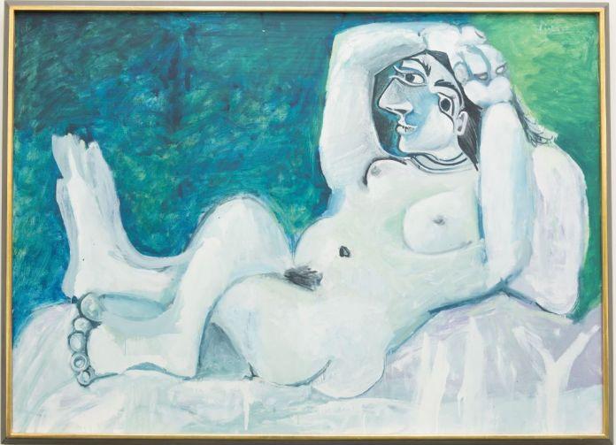 Pablo Picasso, Grand nu, 1964, huile sur toile, 140 x 195 cm, Kunsthaus Zürich, 1969/2, photo © Kunsthaus Zürich, service presse / musée Fabre © Succession Picasso, 2018
