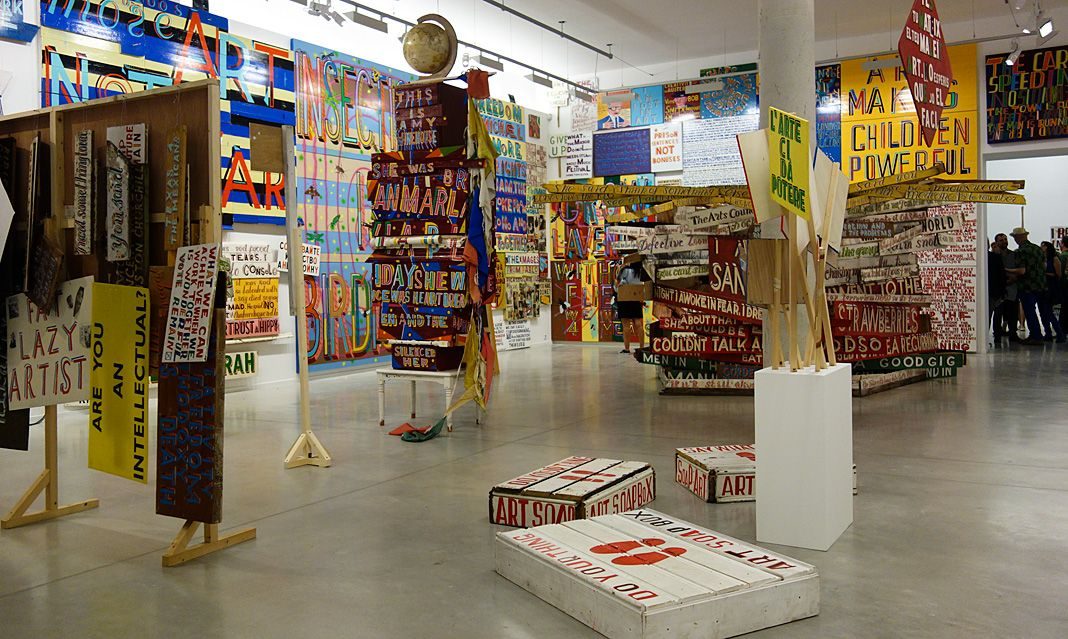 Bob and Roberta Smith -  Activist » à La Panacée - Salle 2 02