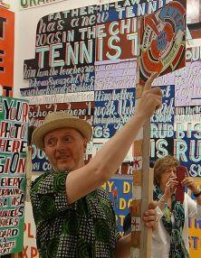 Bob and Roberta Smith - Activist» à La Panacée - Salle 2