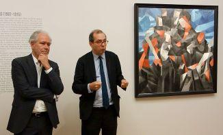 Bruno Ely et Laurent Le Bon - Exposition Picasso Picabia – La Peinture au défi au musée Granet