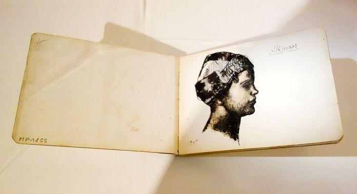 Pablo Picasso, Carnet de Hollande (profil de jeune Hollandaise), été 1905 - Picasso, voyages imaginaires à la Vieille Charité - Marseille - Bohème Bleue