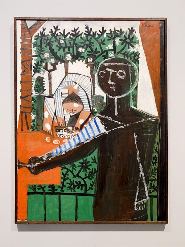 Pablo Picasso, Devant le jardin, 28 décembre 1953 - Picasso - Donner à voir au Musée Fabre