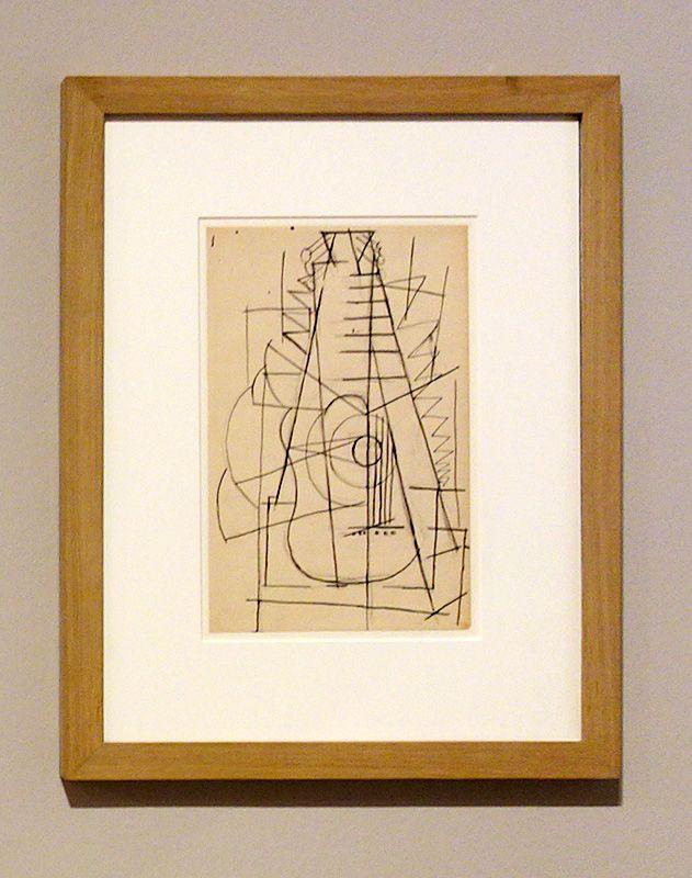 Pablo Picasso, Guitare, été 1912 - Picasso, voyages imaginaires à la Vieille Charité - Marseille - Horta - Sorgues – Marseille