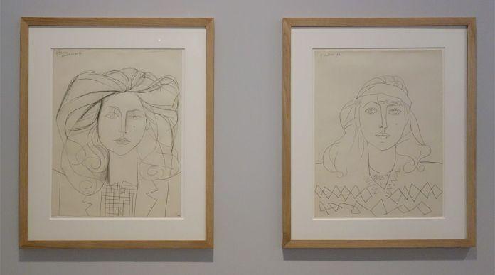 Pablo Picasso, Portrait de Françoise, Portrait de Françoise et Françoise au bandeau, Paris, 5 juillet 1946 - Picasso - Donner à voir au Musée Fabre