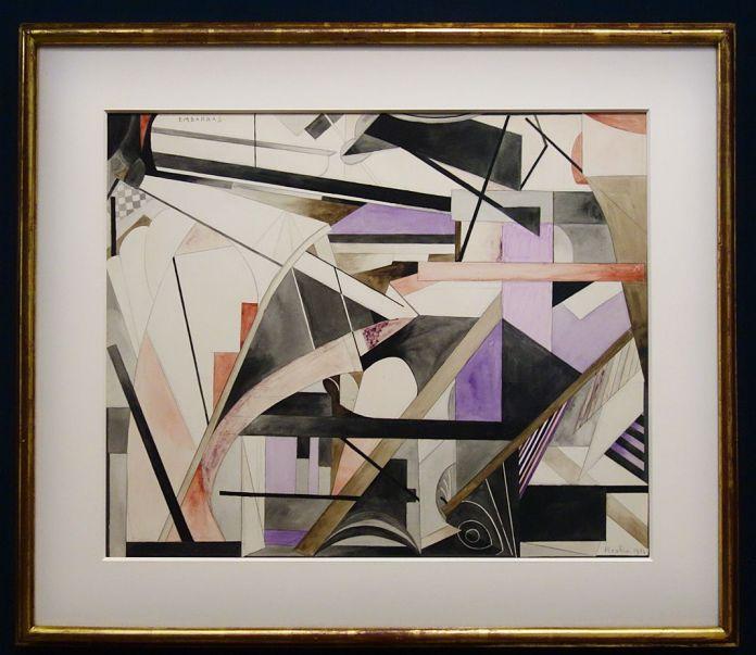 Picabia, Embarras, 1914 - Exposition Picasso Picabia – La Peinture au défi au musée Granet - Cubismes (1907-1915)