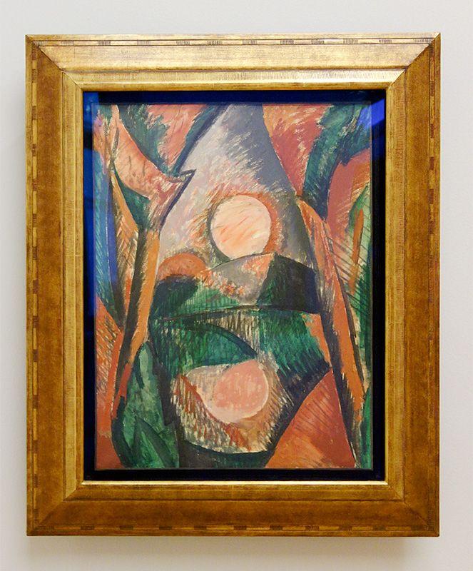Picasso, Paysage, couché de soleil, aout 1908 - Exposition Picasso Picabia – La Peinture au défi au musée Granet - Cubismes (1907-1915)