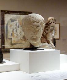 Sculpture ibérique, Tête masculine, IIIe siècle av. J.-C. - Picasso, voyages imaginaires à la Vieille Charité - Marseille