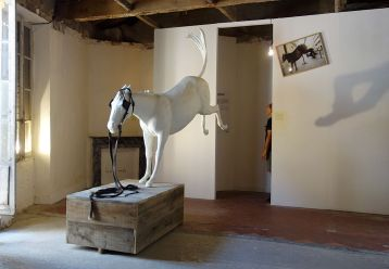 Adel Abdessemed, Cheval de Turin, 2012, Aluminium, cuir, 230 x 160 x 50 cm - Au-delà du principe de plaisir - Rencontres Arles 2018