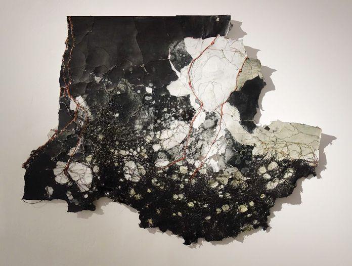 Cathryn Boch, Sans titre, 2016 - Exposition Tissage - Tressage à la Villa Datris - Folie du fil