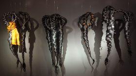 Nicole Dufour, les fétiches, 2008-2012 - Exposition Tissage - Tressage à la Villa Datris - Tisser le monde