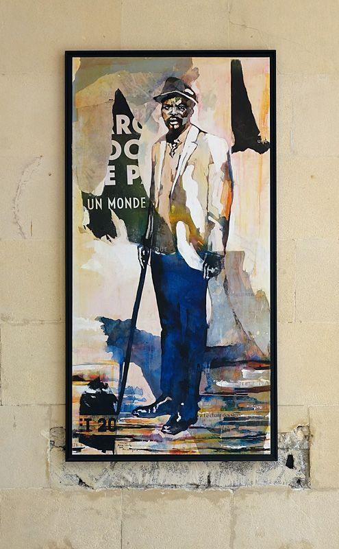 Portrait de Dominique Zinkpè -Lettre ouverte à la Poste Colbert, Marseille