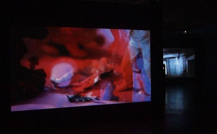 Isabelle Cornaro, Day for Nights, 2017 et Video Urbex, 2013 - Exposition Blue Spill au MRAC - Sérignan