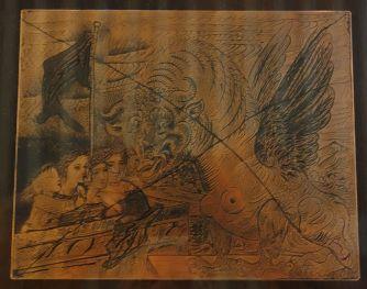 Picasso - Suite Vollard - Harpye à tête de taureau..., decembre 1934 - Planque de cuivre rayée et encrée