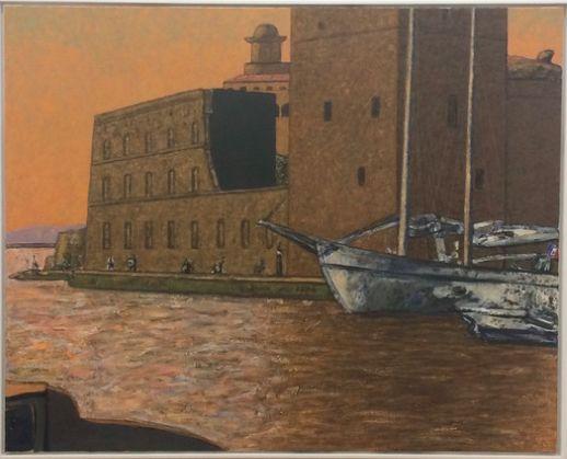 Vincent Bioulès - Fort Saint-Jean, 2018. 130 x 162 cm, huile sur toile