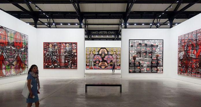Gilbert & George, The Great Exhibition, 1971-2016 - Luma Arles - Vue de l'exposition à la Mécanique Générale