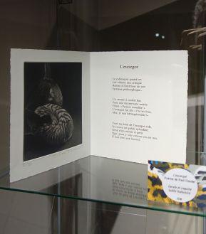 L'escargot, Paul Chaudel - Exposition Verdigris- le noir en filigrane au musée Médard Lunel