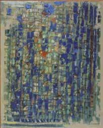 Roger Bissière Lumière du matin 1960 Huile sur toile de matelas 100 x 81,5cm Coll. Fondation Jean et Suzanne Planque (en dépôt au Musée Granet, Aix-en-Provence) © ADAGP, Paris2018
