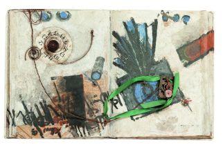 Sans titre. Technique mixte sur carton. 35 × 56 cm, non signé et non daté. Collection privée, Casablanca © Collection privée, Casablanca