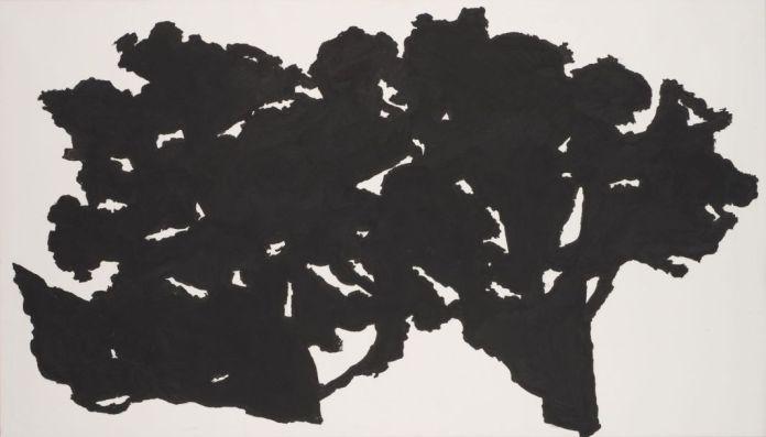 Chênes près du mas de Bonniol 2010, acrylique sur toile 80 x 140 cm