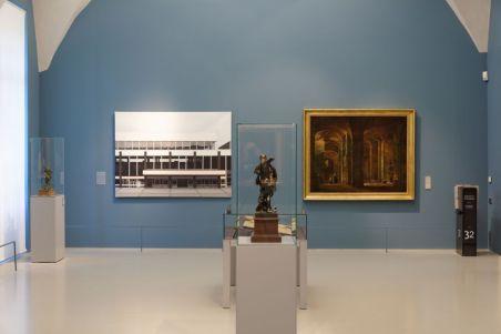 Le rêve de la fileuse - trois collections en dialogue au Musée Fabre - François Marius Granet et Lisa Milroy - photo Photo C. Perez - Frac OM