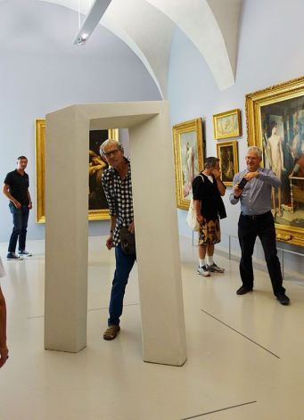Le rêve de la fileuse - trois collections en dialogue au Musée Fabre - Tjeerd Alkema, Autre Porte, Ruban de Moebius coupé et anamorphosé, 1994 - 2009