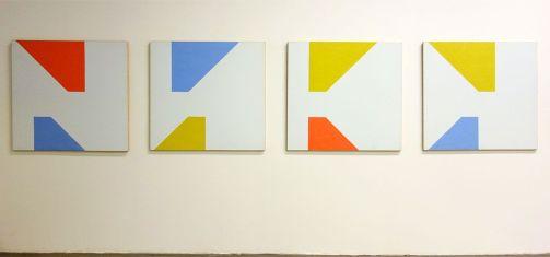 Martin Barré, 91-92 - 104 x 108 - A,B,C et D, 1991-1992 - Une histoire de la collection du Fonds régional d'art contemporain - Vue de l'exposition au FRAC PACA