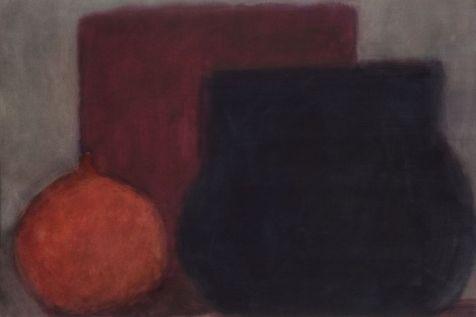 Vie silencieuse 2009-2010, aquarelle sur papier 101 x 140,5 cm