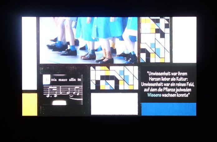 Alexander Kluge, Mondrian-Machine N° 1 ; Éducation, 2018 - James Ensor et Alexander Kluge - Siècles noirs à la Fondation Van Gogh Arles