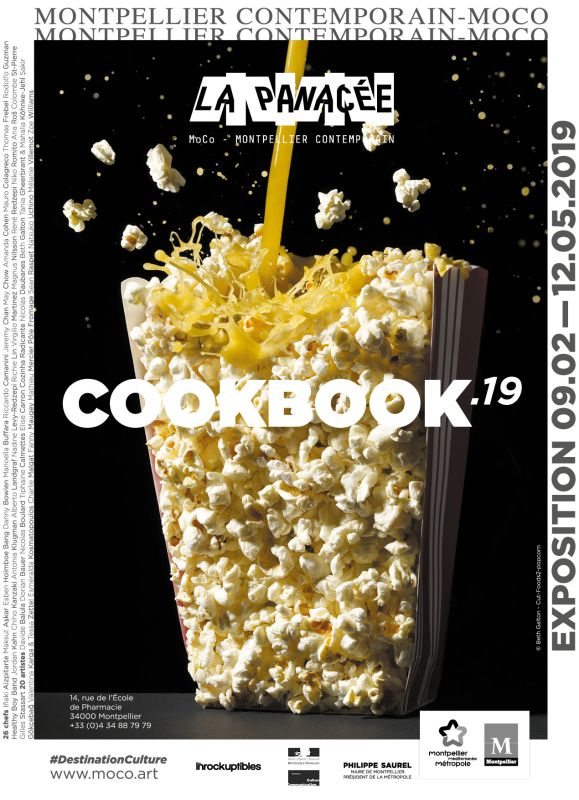 Cookbook '19 à La Panacée - Affiche de l'exposition. Photo Beth Galton, Cut Foods - Popcorn