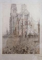 James Ensor, La cathédrale, 1896 - James Ensor et Alexander Kluge - Siècles noirs à la Fondation Van Gogh Arles
