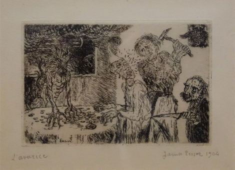 James Ensor, L'avarice, 1904 - James Ensor et Alexander Kluge - Siècles noirs à la Fondation Van Gogh Arles