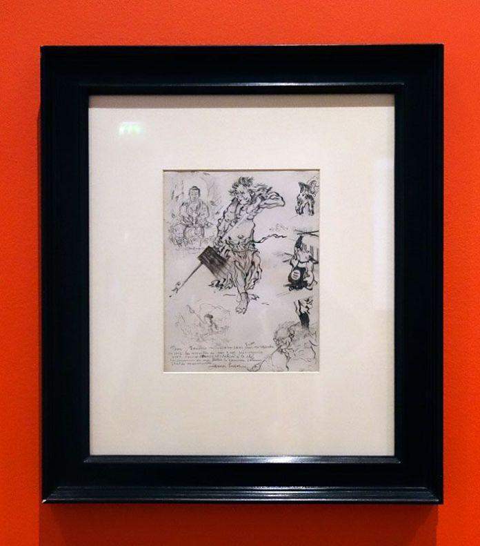 James Ensor, Le guerrier et le Buddha, 1885 - James Ensor et Alexander Kluge - Siècles noirs à la Fondation Van Gogh Arles