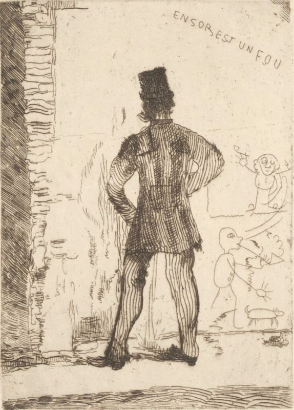 James Ensor, Le pisseur, 1887