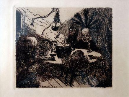 James Ensor, Le roi Peste, 1895 - James Ensor et Alexander Kluge - Siècles noirs à la Fondation Van Gogh Arles